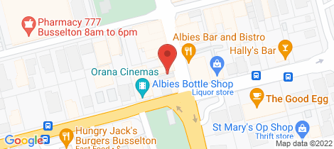 Location map for 1/102 Queen Street Busselton