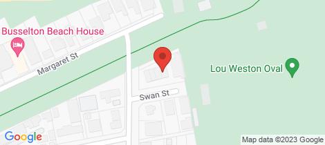 Location map for 4/1 Swan Street West Busselton