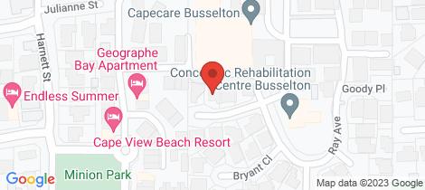 Location map for 6 Harrison Retreat Broadwater