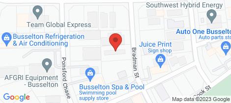 Location map for 8 Bradman Street Busselton