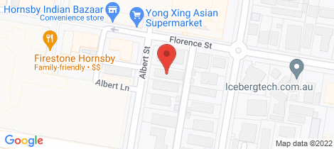 Location map for 6/14 Albert Street Hornsby