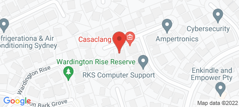 Location map for 18 Brokenwood Place Baulkham Hills