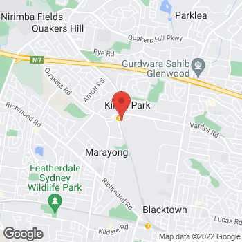 Map of O'Brien Electrical Kings Park at 30 Harvey Road, Kings Park, NSW 2148