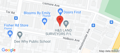 Location map for 8/7 Holborn Avenue Dee Why