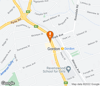 Map of The Gordon Centre, Shop 21 in Gordon
