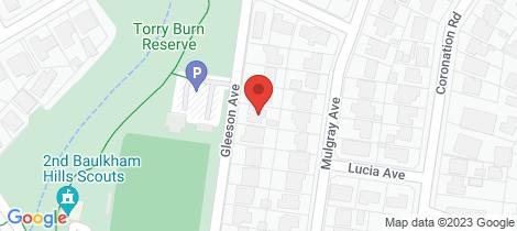 Location map for 14 Gleeson Ave Baulkham Hills
