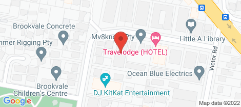 Location map for 2/21 Shackel Ave Brookvale