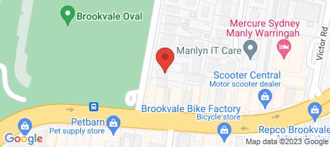 Location map for 3 Pine Avenue Brookvale