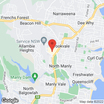 Map of STA Travel - Warringah Mall at Condamine Street and Old Pittwater Road, Brookvale, NSW 2100