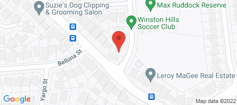Location map for 16 Romulus Street Winston Hills