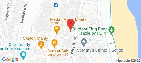 Location map for 14 Denison Street Manly
