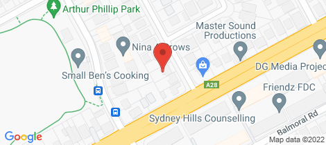 Location map for 28A Hayes Avenue Northmead