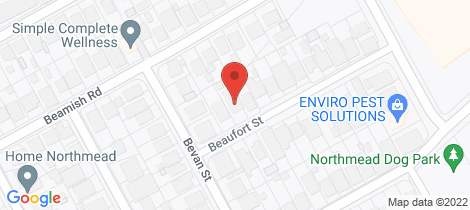 Location map for 21 Beaufort Street Northmead