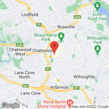 Map of STA Travel at Chatswood NEW LOCATION, Chatswood, NSW 2067