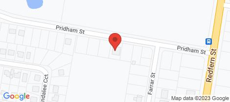 Location map for 12 Pridham Street Cowra