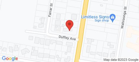 Location map for 4 Duffey Avenue Cowra