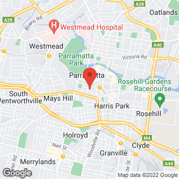 Map of Foot Locker Parramatta at Shop 2146 Level 2 Westfield 159-175 Church St, Parramatta, NSW 2150