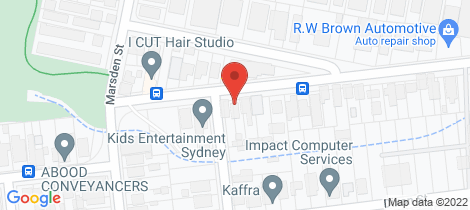 Location map for 9 Lansdowne Street Parramatta