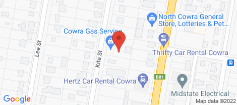 Location map for 45A Kite Street Cowra