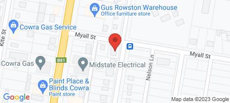 Location map for 30 Wellington Street Cowra