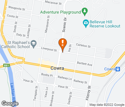 Map of Cowra Physiotherapy in Cowra