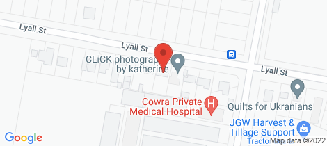 Location map for 38 Lyall Street Cowra