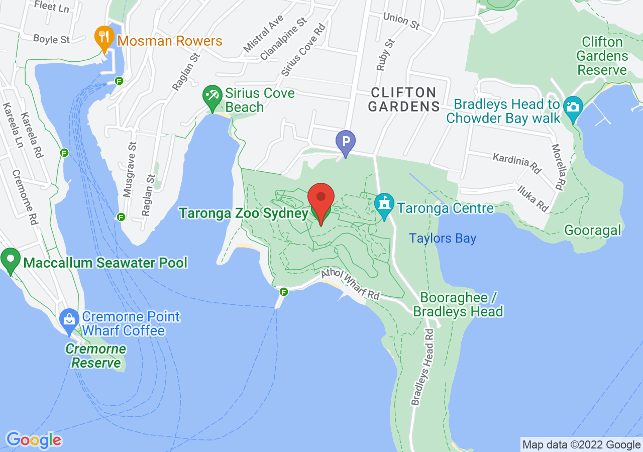 The location of Epicure at Taronga Zoo