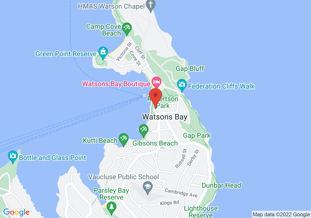 The location of Dunbar House Sydney