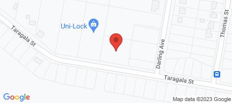 Location map for 17 Taragala Street Cowra