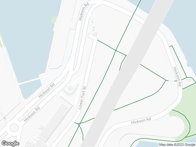 Map, showing Dawes Point Park  (Tar-ra)