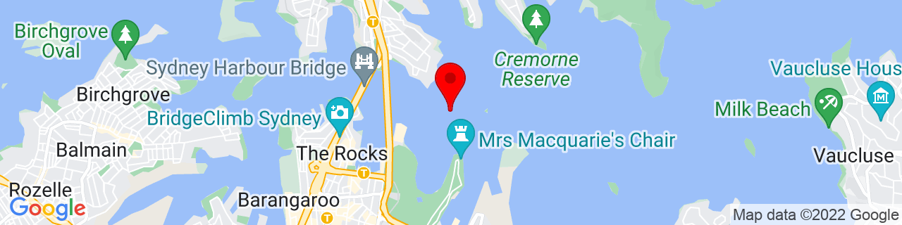 Google Map of -33.85495, 151.22122777777778