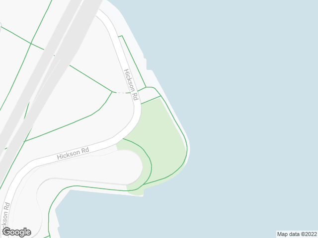 Map, showing Hickson Road Reserve