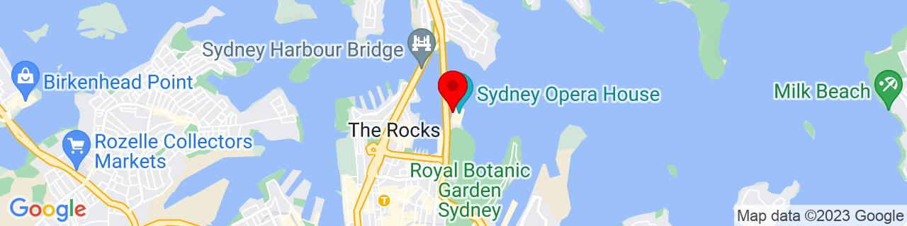 Google Map of -33.85690833333334, 151.214575