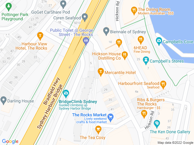 Map, showing $12 lunch