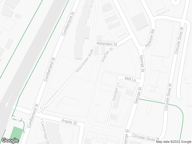 Map, showing Argyle Gallery
