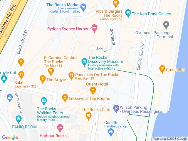 Map, showing Louis Cardini