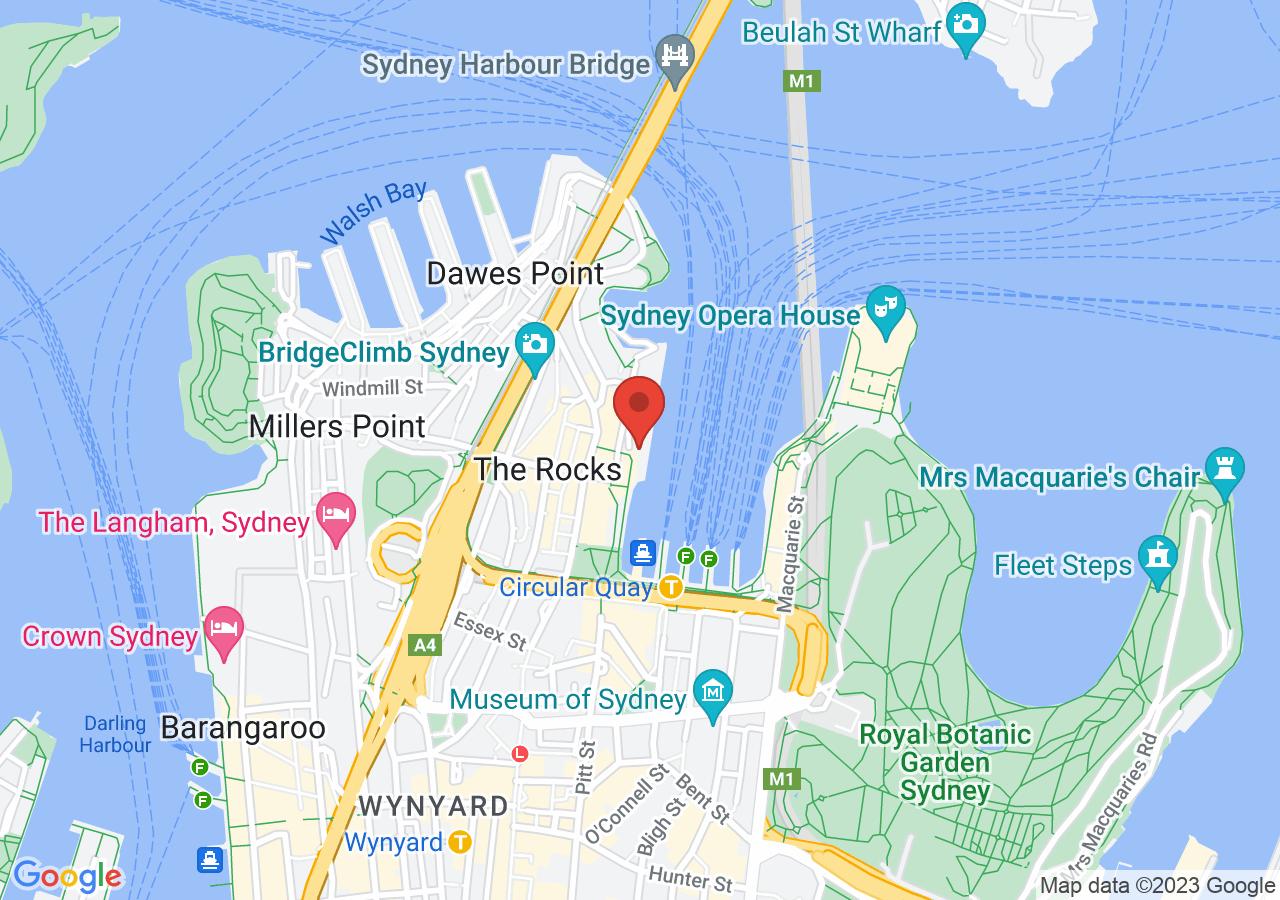 The location of Cruise Bar Sydney