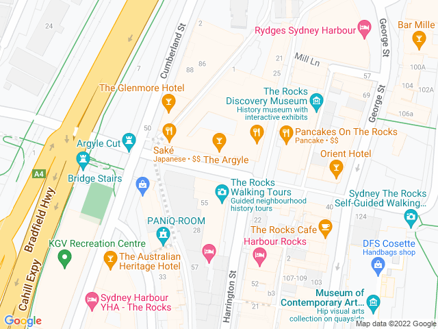 Map, showing Rumba Wednesdays