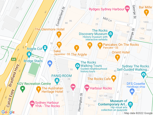 Map, showing $1 dumpling Tuesdays