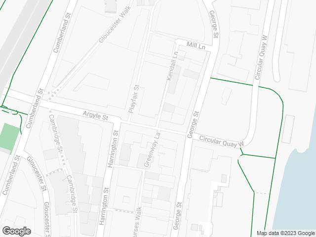 Map, showing Jack Mundey Place