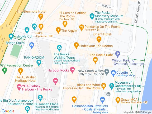 Map, showing Harrington Leather
