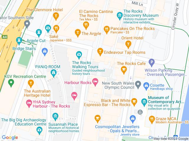 Map, showing Bonza Bike Tours