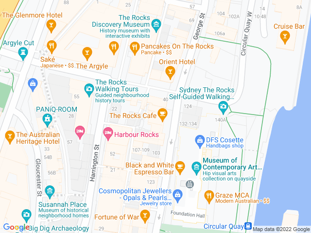 Map, showing Zia Pina Pizzeria