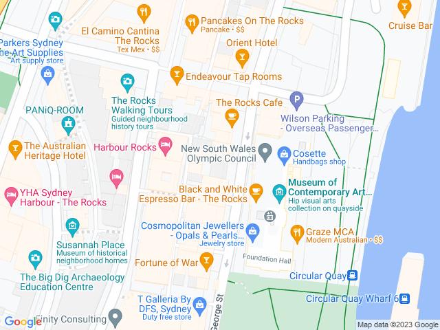 Map, showing Joe Bananas