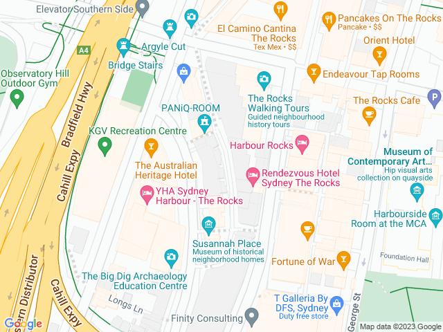 Map, showing Kameya Ramen Bar & Dining