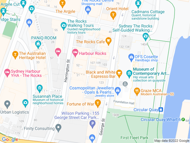 Map, showing The British Lolly Shop