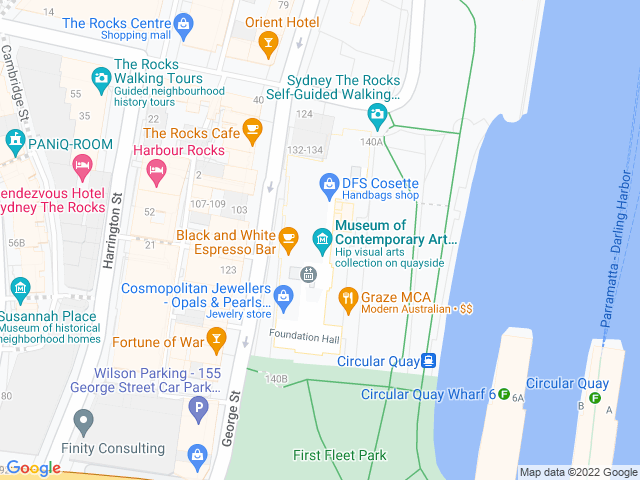 Map, showing Museum of Contemporary Art