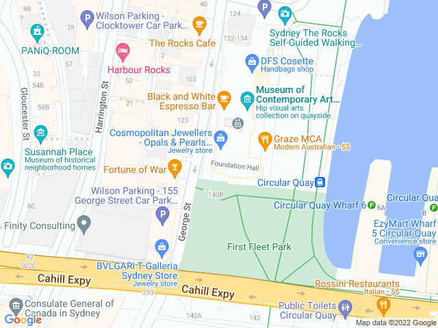 Map, showing West 14th