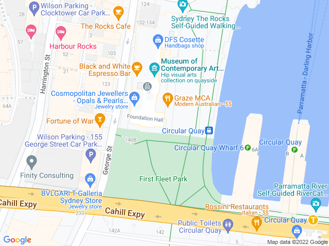 Map, showing Arthur Ave