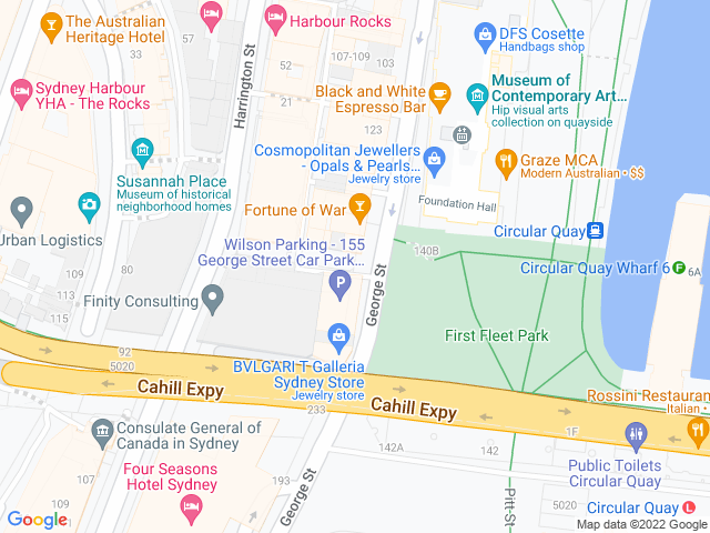 Map, showing The Russell Boutique Hotel